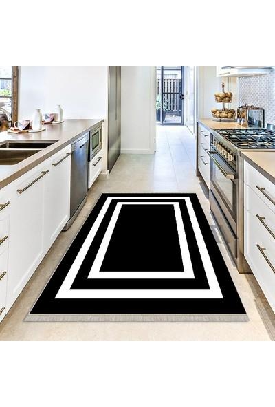 Kaizen Home Dijital Baskı, Modern, Dekoratif, Kaymaz Tabanlı Halı Yolluk, Antibakteriyel, Makinada Yıkanabilir
