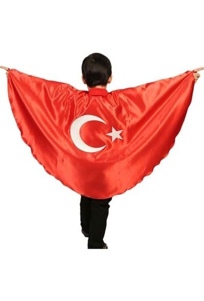 Janjan Kostüm Ay Yıldız Pelerin, Türk Bayrağı Pelerini