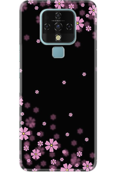 Tecno Techo Camon 16 Kılıf Resimli Desenli Baskılı Silikon Kılıf Flowers 4 1390
