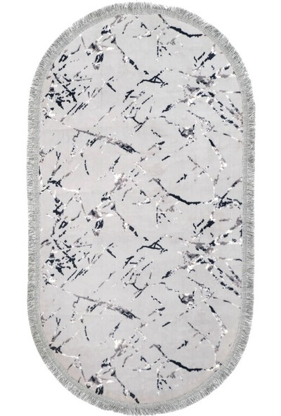 Akman Akman Oval Paspas 80X150 - Gri