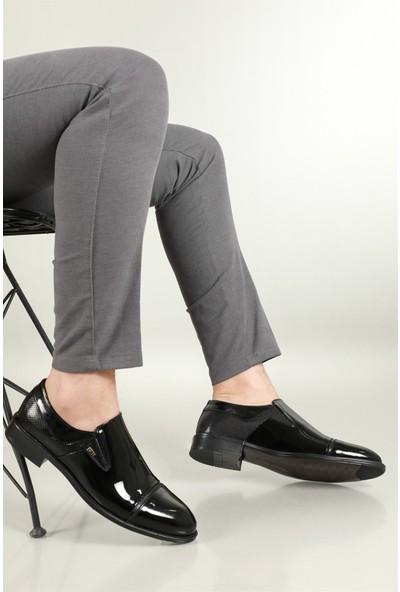 Berenni Klasik Deri Siyah Rugan Erkek Ayakkabı 378