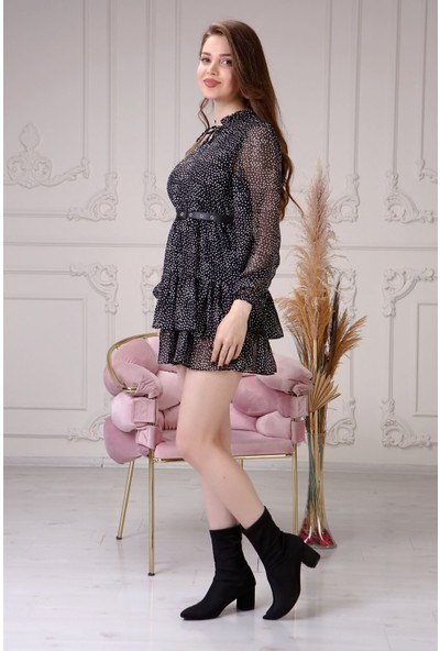 Epaavm Kemerli Şifon Kadın Elbise
