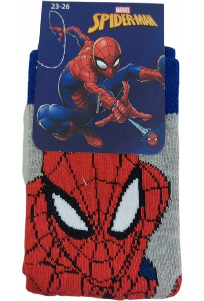 Çimpa Spiderman Lisanslı Pamuk Çocuk Soket Çorabı
