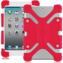 Duego Standlı Silikon Tablet Kılıfı Goldmaster F4 Kırmızı