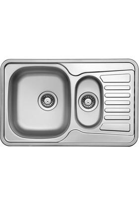 Ukinox Hamlet 80 1.5 Gözlü Sağ Damlalıklı (77X48) Tezgahüstü Çelik Mutfak Eviyesi
