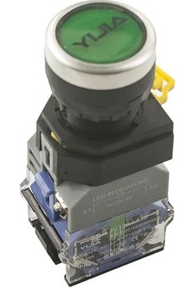Yijia Anahtarlı Push Buton 3.6V Yelik Işıklı YJ139-LA38