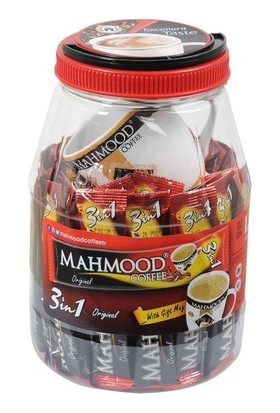 Mahmood Coffee 3ü1 Arada Sütlü Köpüklü 36 Adet Kavanozlu Bardak x 12 Paket (1 Koli)