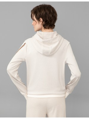 Pierre Cardin Krem Regular Fit Sweatshirt 50244939-VR071