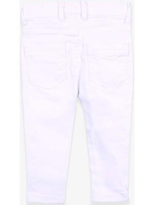 Jack Lions Erkek Bebek Kot Pantolon Beyaz (9 Ay-5 Yaş)