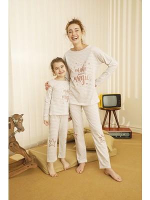 Siyah İnci Pamuklu Likralı Pijama Takım 21263093