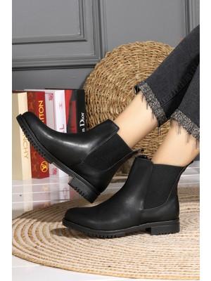Woggo 59 Cilt Kadın Bot Ayakkabı Siyah