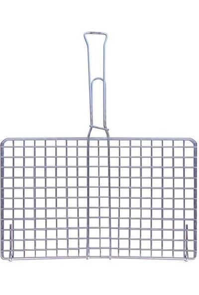 Açan Orta Boy Tahtasız Kafesli Tel Izgara Mangal Izgarası 25 x 35 cm