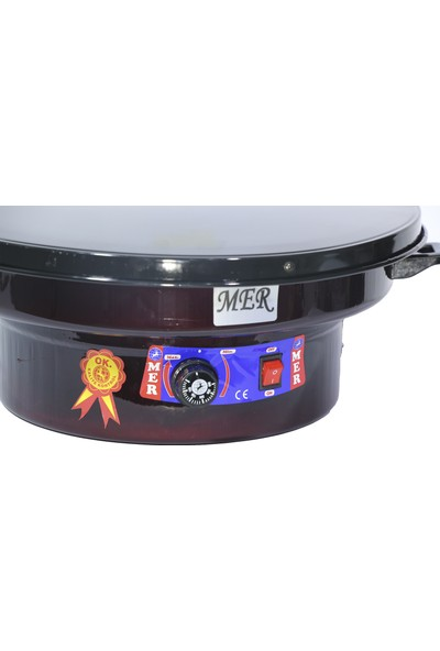 Merpa 50 cm Katmer Ekmek Sacı Elektrikli Termostatlı Katmer Sac