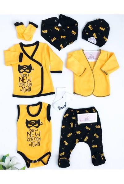 Concon Baby New Batman 8'li Zıbın Set Sarı