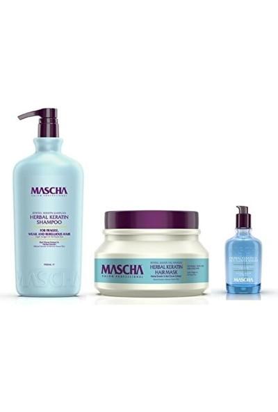 Mascha Güçlendirici Düzleştirici Etkili Keratin Saç Bakım Seti Şampuan + Maske + Serum