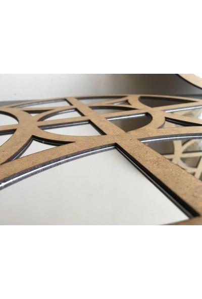 St Design 2'li Motifli Daire Aynalı Tablolar Ham Mdf