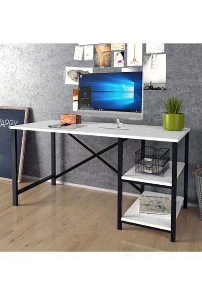 Noowa Metal Bilgisayar ve Çalışma Masası 60X120 cm Beyaz