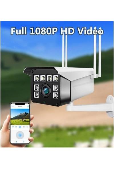 Kingboss 4 Antenli IP-100 1080P 8 Ledli Dış Mekan Ip Güvenlik Kamerası