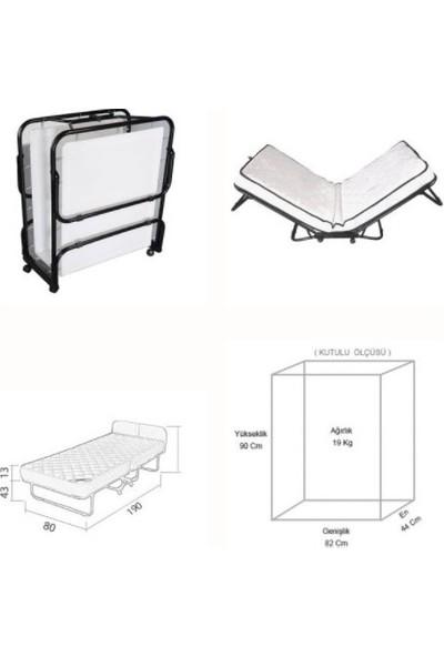 Noowa Yatak Lüks Katlanır 80 x 190 cm Yatak Karyola Misafir Öğrenci Ek Yatağı