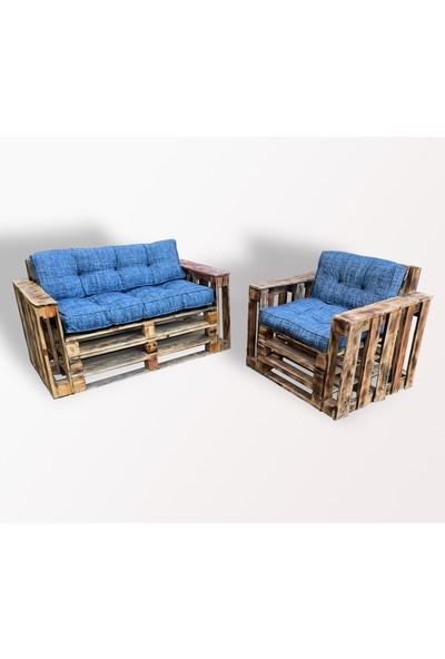 Pine Crafts Ahşap Modern Palet Koltuk Takımı