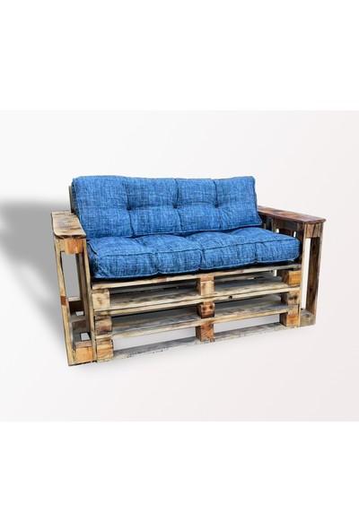 Pine Crafts Ahşap Modern Palet Ikili Koltuk
