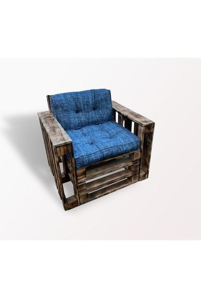 Pine Crafts Ahşap Modern Palet Tekli Koltuk