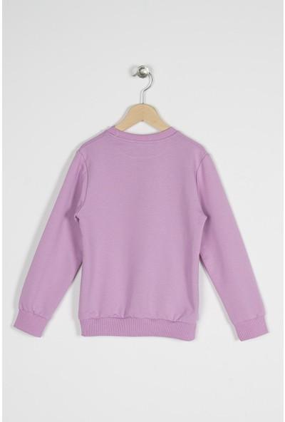 Zepkids Kız Çocuk Together Nakışlı Sweatshirt 8-12 Yaş