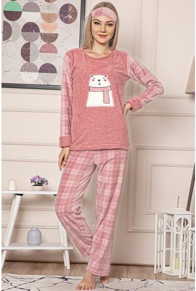 Tampap Kadın Kareli Polar Pijama Takımı Tampap 500
