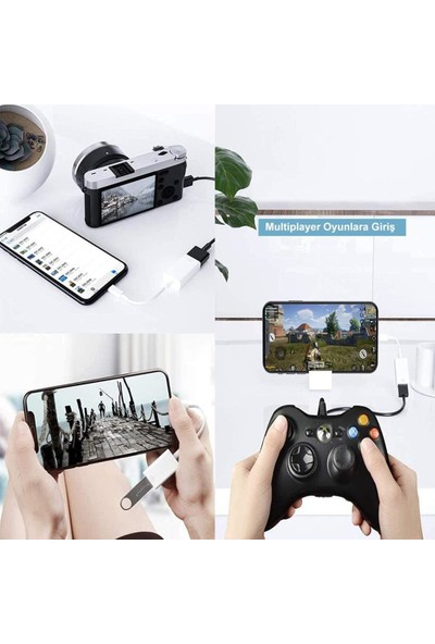 iPhone iPad Lightning To USB 3.0 Kamera Adaptörü Çevirici Aktarıcı Kablo
