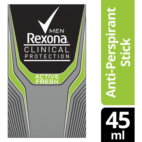 Rexona Clinical Protection Erkek Stick Deodorant Active Fresh 45 ML 1 Adet