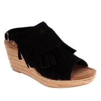 Minnetonka Ashley 71311 Kadın Ayakkabı Black Suede Suede