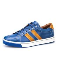 Cabani Bağcıklı Spor Erkek Ayakkabı Mavi Deri