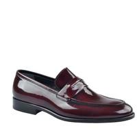 Cabani Kemerli Klasik Erkek Ayakkabı Bordo Açma Deri