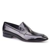 Cabani Kemerli Klasik Erkek Ayakkabı Siyah Buffalo Deri