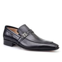 Nevzat Onay Tokalı Klasik Erkek Ayakkabı Siyah Antik Deri