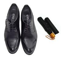 Siyah Klasik Erkek Ayakkabısı + Şemsiye