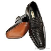 Eray Siyah Klasik Erkek Ayakkabı & Evrak Çantası Hediyeli!...