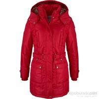 Bonprix John Baner Jeanswear Kırmızı Kışlık Mont 34-54 Beden