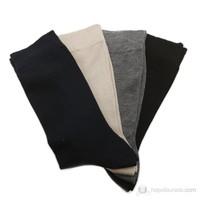 Allia Bambu Düz 4Lü Paket Kaybolmayan Çorap