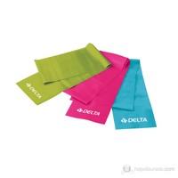 Delta DS-9900 3 Farklı Direnç Seviyeli Pilates Bant Seti (150 cm x 15 cm)
