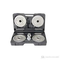 Delta Dura-Strong Deluxe Parlak Gri Döküm Plaka 20 Kg. Özel Çantalı Set - DS 3302
