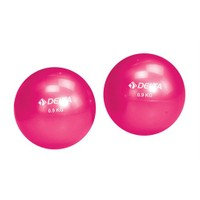 Delta İkiz ( 0.9 Kg. x 2 ) 1.8 KG Fuşya Pilates Ağırlık Topu ( Toning Ball ) - DS 911