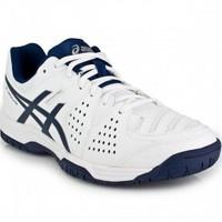 Asics Gel Dedicate 4 White Navy Silver Erkek Tenis Ayakkabısı