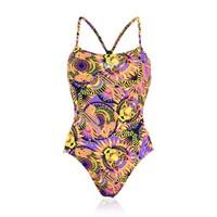 Speedo Allover Digital Rippleback Costume Kadın Yüzücü Mayosu