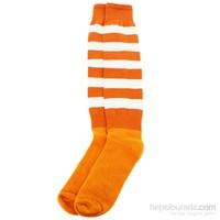 Sportive Lüx Çorap Turuncu-Beyaz