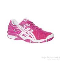 Asics Gel Resolution 5 Fuchia/White/Silver Kadın Tenis Ayakkabıları