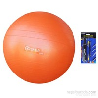 Cosfer 65 cm Anti-Burst Pilates Topu & Çok Amaçlı Pompa Hediyeli