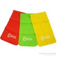 Cosfer 3 Lü Pilates Lastiği (Fuşya-Yeşil-Sarı)