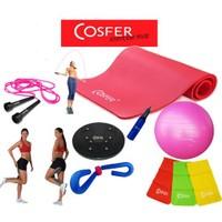 Cosfer 65 Cm Pilates Toplu Full Point Set Csf-7446 Pembe