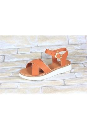 By Puix 254-1100 Taba Kadın Sandalet
